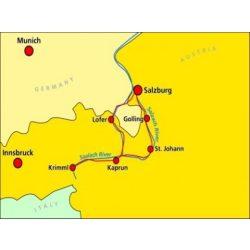 141. Tauern-Radweg turista térkép Kompass 1:125 000