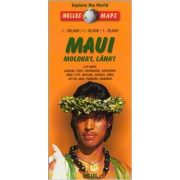 Maui térkép, Maui, Molokai, Lanai, Hawaii térkép Nelles 1:150 000