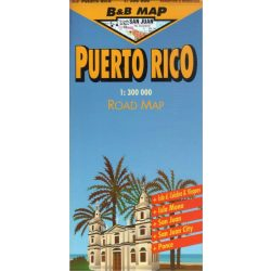 Puerto Rico térkép B&B Map 1:300 000