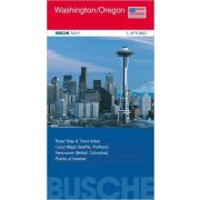 Washington térkép, Oregon térkép Busche Map 1:975 000