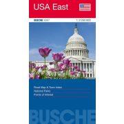 USA East térkép Busche map  1:2 200 000   Kelet-USA térkép