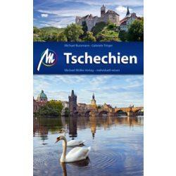 Prága környéke útikönyv CSEHORSZÁG / TSCHECHIEN ÚTIKÖNYV / MICHAEL MÜLLER VERLAG német nyelvű  2015