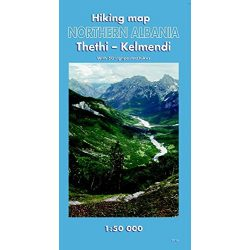 Észak Albánia térkép, Thethi, Kelmend turista térkép Huber 1:50 000  2016