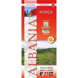 Albánia térkép 7. rész, Albánia kerékpáros térkép   Huber 1:50 000