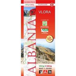 Albánia térkép 8. rész, Albánia kerékpáros térkép Vlora térkép   Huber 1:50 000