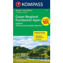 221. Grazer Bergland turista térkép Kompass 1:50 000