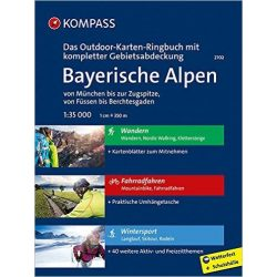 2702. Bayerische Alpen térkép Outdoor térkép 1:35 001