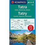 2100. Magas Tátra turista térkép, Hohe Tatra/Vysoké Tatry, D/SK turista térkép Kompass