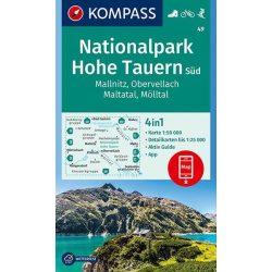 49. Kompass Hohe Tauern turista térkép, Hohe Tauern Nemzeti Park Süd, Mallnitz, Obervellach, Maltatal, Mölltall turista térkép 2018  1:50e