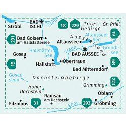 20. Dachstein turista térkép Kompass 1:50 000