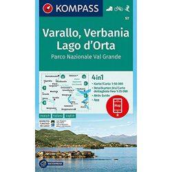 97. Varallo, Verbania, Lago d'Orta, Parco Nazionale Val Grande, D/I  turista térkép Kompass