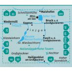 030. Zell am See turista térkép, Kaprun turista térkép Kompass 1:30 000
