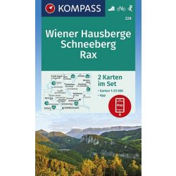 228. Wiener Hausberge turista térkép Kompass 1:25 000