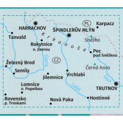 2087. Riesengebirge turista térkép / Krkonoše turista térkép Kompass