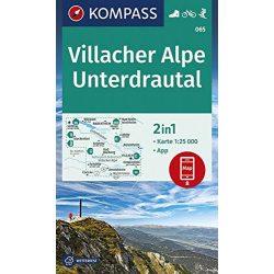 065. Villacher Alpe  turista térkép, Unterdrautal turista térkép Kompass 1:25 000