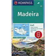 234. Madeira turista térkép Kompass 1:50 000 Madeira térkép