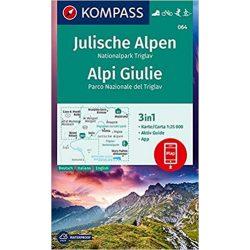 064. Julische Alpen Júliai Alpok turista térkép Kompass 1:25 000