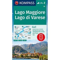 90. Lago Maggiore turista térkép Kompass 1:50 000