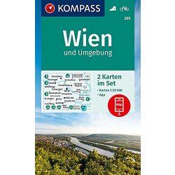 205. Wien és környéke turista térkép Kompass 1:50 000