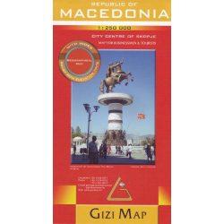 Macedonia térkép Geographical Gizi Map  1:250 000