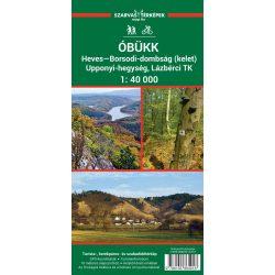 Óbükk turista térkép, Heves-Borsodi-dombság turista térkép kelet Szarvas kiadó 1:40 000 Óbükk térkép