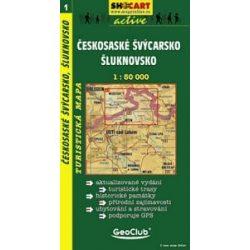 SC 1. Ceskosaske Svycarsko, Sluknovsko Decin to Neustadt turista térkép Shocart 1:50 000 Cseh Svájc turistatérkép
