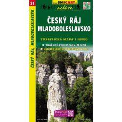 SC 21. Cseh Paradicsom térkép, Cesky raj, Mladoboleslavsko turista térkép Shocart 1:50 000