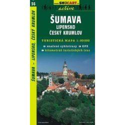 SC 36. Sumava, Lipensko. turista térkép Shocart 1:50 000