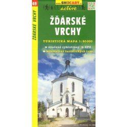 SC 49. Zdarske Vrchy Zdar turista térkép Shocart 1:50 000