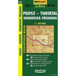 SC 53. Podyji, Thayatal, Vranovsko prehr turista térkép Shocart 1:50 000