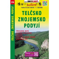 SC 216.  Telčsko turistatérkép , Podyjí turista térkép Shocart 1:100 000