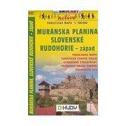 SC 232. Murányi fennsík, Muránska planina, Slovenské rudohorie - západ turista térkép Shocart 1:100 000