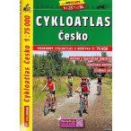 Csehország kerékpáros térkép Shocart 1:75 000  2019 Csehország kerékpáros atlasz
