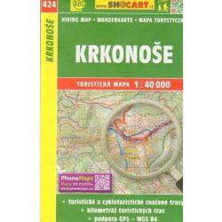 SC 424. Krkonose turista térkép, Cseh Óriás-hegység turistatérkép,  Krkonose térkép  Shocart 1:50 000