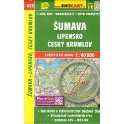SC 436. Šumava - Lipensko - Český Krumlov turistatérkép, Sumava turista térkép Shocart 40 000  2017