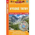 SC 701. Vysoké Tatry, Magas Tátra turista térkép Shocart 1:25 000   2017
