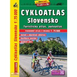 Szlovákia kerékpáros atlasz, Szlovákia kerékpáros térkép, Szlovákia atlasz Freytag-Shocart 1:75 000 SHC CY4781