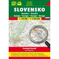 Szlovákia atlasz Freytag & Berndt-Shocart  1:150e, Szlovákia autóatlasz, Szlovákia autós térkép