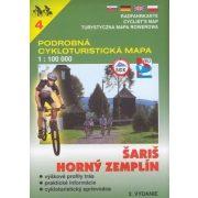 PCM 4. Saris, Horny Zemplén kerékpáros térkép, Podrobná turista térkép 1:100 000 VKÚ 4.