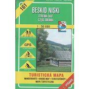 161. Keleti Beszkidek, stredná cast turista térkép VKÚ 1:50 000