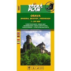 5007. Árvai Magura, Beszkidek turista térkép Tatraplan 1:50 000