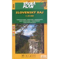 2504. Slovensky Raj turista térkép Szlovák Paradicsom térkép Tatraplan 1:25 000