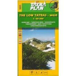 5003. Alacsony Tátra térkép, Low Tatras west turista térkép Tatraplan 1:50 000