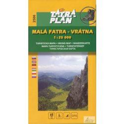 2506. Malá Fatra, Vrátna turista térkép Tatraplan 1:25 000