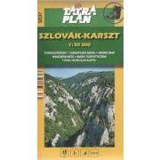 5037. Szlová karszt turista térkép Tatraplan 1:50 000