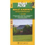 5023. Malé Karpaty Mts. Around Bratislava turista térkép Tatraplan 1:50 000 Kis-Kárpátok térkép