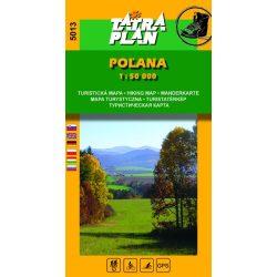 5013. Poľana turista térkép Tatraplan 1:50 000, Polana térkép