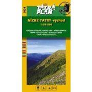 5004. Alacsony-Tátra turista térkép, Alacsony-Tátra -kelet - Nízke Tatry-vychod térkép  Tatraplan 1:50 000   2016