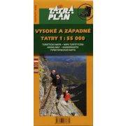 Magas Tátra térkép, Nyugati Tátra turista térkép Tatraplan 1:55 000 Vysoké a Západné Tatry turistatérkép