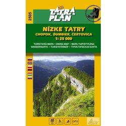 2505. Nízke Tatry turista térkép Tatraplan 1:25 000